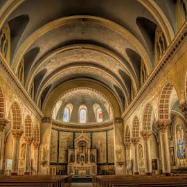 St. Patrick's by Chris Cavallo - Buildings & Architecture Places of Worship ( church, arches, columns, architectural detail, architecture )