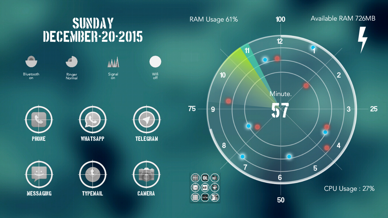Radar Theme Total Launcher Screenshot 3