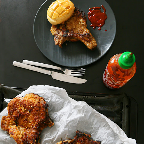Gochujang Pork Chops With Pineapple Buns (4 Pork Chops)
