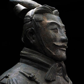 Terracotta General by Tobias Andersson - Artistic Objects Antiques ( army, soldier, xian, terracotta, general, china )