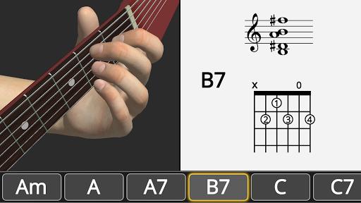 Basic Guitar Chords 3D screenshot 3