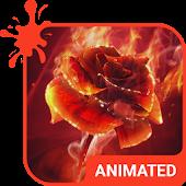 App Burning Rose Animated Keyboard 1.40 APK for iPhone