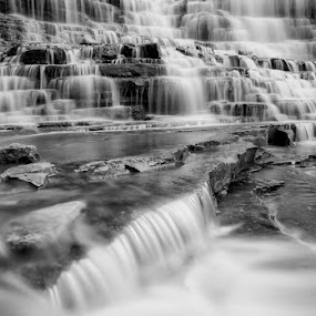 Albion Falls by Elvis Dorencec - Landscapes Waterscapes ( black & white, albion falls, slow shutter )