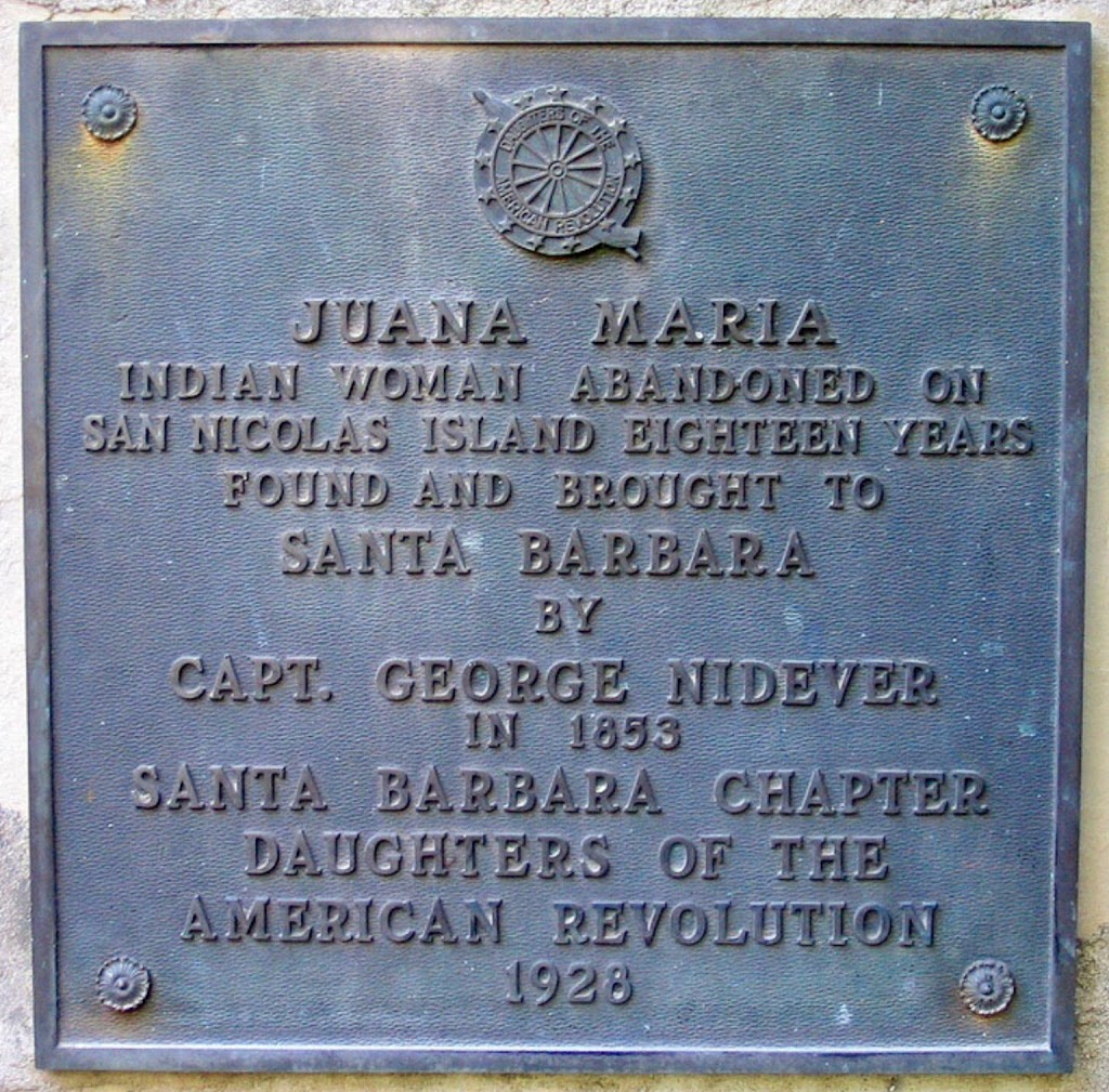 Indian woman abandoned on San Nicolas Island eighteen years. Found and brought to Santa Barbara by Capt. George Nidever in 1853. Note: Juana Maria died soon after being exposed to diseases on the ...