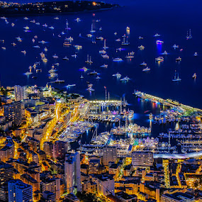 MONACO YACHT SHOW 2015 by Cédric Nouvel - City,  Street & Park  Night