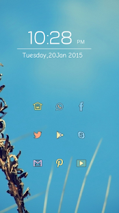 Blue theme - screenshot