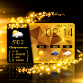 Download Glitter Gold Live Weather HD APK for Laptop