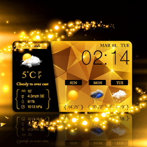 Download Glitter Gold Live Weather HD For PC Windows and Mac
