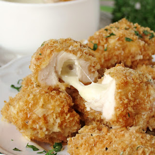 Baked Chicken Nuggets Stuffed With Mozzarella