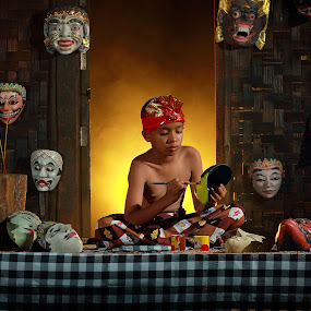 Mask maker  by Achepot Chepot - People Fine Art
