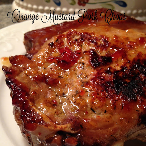 Orange Mustard Pork Chops