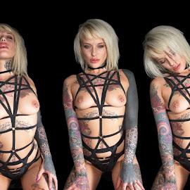 Lauren Brock Poster by Ty Williams - Nudes & Boudoir Artistic Nude ( glamour, lady lauren, topless, girl, fetish, tattoo, multiple, nudity )