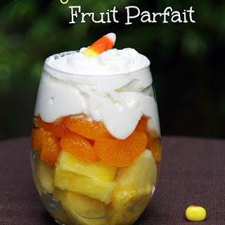 Candy Corn Fruit Parfait