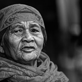 The Old Woman From Cikaroya by Imron Rosadi - People Portraits of Women