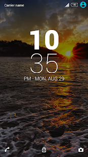 Theme - Sea Sunset - screenshot