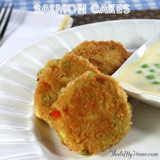 Salmon Cakes with Roasted Potatoes
