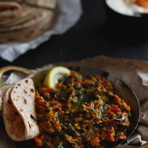 Melt-in-the-Mouth Burnt Aubergine and Spinach Curry
