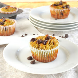 Coconut Flour Banana Chocolate Chip Muffins