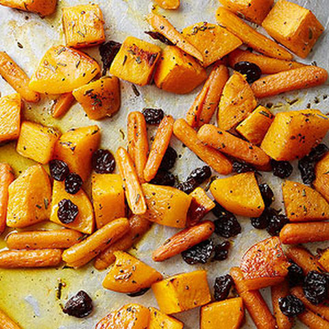 Orange Sauced Butternut Squash Carrots and Dried Cherries