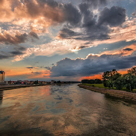 clouds and sunset by Eseker RI - Landscapes Sunsets & Sunrises (  )