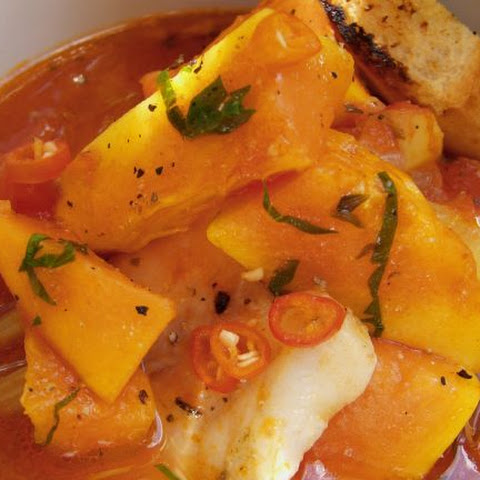 Creole Soup with Sweet Potato and Fish