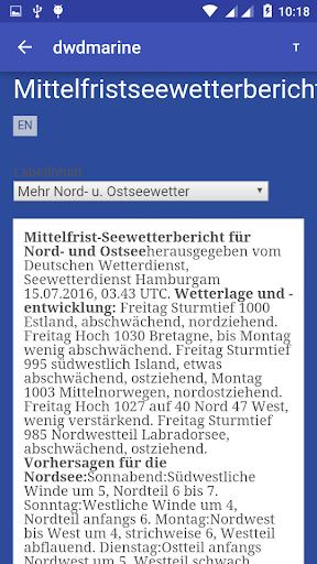 DWD Marine Wetter, Seewetter - screenshot