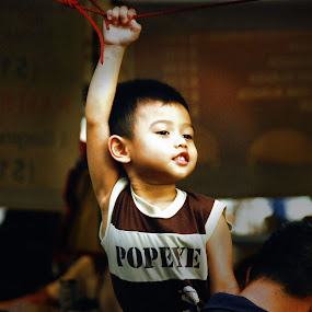 Popeye is Here  by Muhammad Muqri - Babies & Children Children Candids ( child, street, children, candid, popeye )