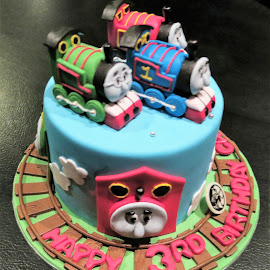 'Thomas & Friends' Birthday Cake by Dennis  Ng - Food & Drink Candy & Dessert (  )