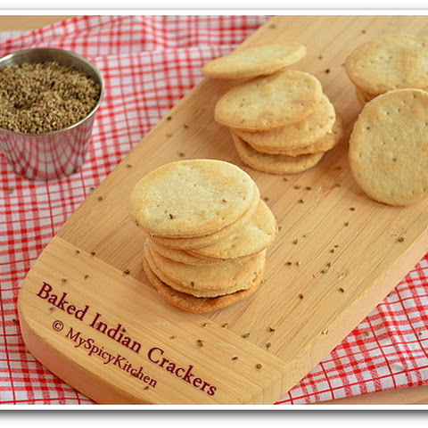 Baked Mathari ~ Baked Indian Crackers