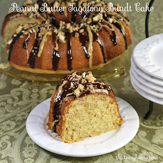 Peanut Butter Tagalong Bundt Cake