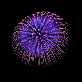 Magic Night by Renata Apanaviciene - Abstract Fire & Fireworks ( maltese, malta, fireworks, creativity, lighting, art, artistic, purple, mood factory, lights, color, fun )