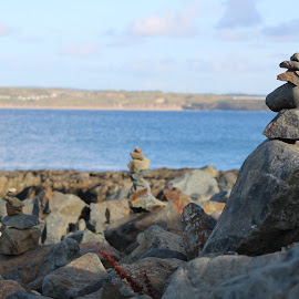Rock Balancing in St. Ives by Ashley Rolland - Landscapes Beaches ( st ives, england, rock art, saint ives, rock formation, beach, united kingdom, cornwall, rock balancing )