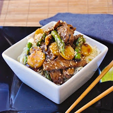 Super Quick Sesame Beef and Asparagus