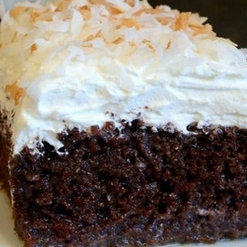 One Piece Won't Be Enough With This Coconut Chocolate Cake.
