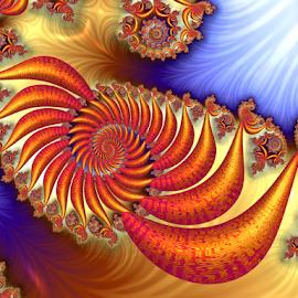 Lava Sand by Cassy 67 - Illustration Abstract & Patterns ( 3d, swirl, fractal art, digital art, spiral, fractal, digital, fractals )