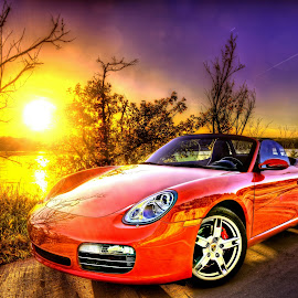 Boxster S by DE Grabenstein - Transportation Automobiles ( sportscar, porsche, boxster s, porsche boxster, red car )