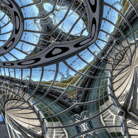 Inner Dock by Simon Eastop - Digital Art Things ( droste, art, harbour, digtial, manipulation )