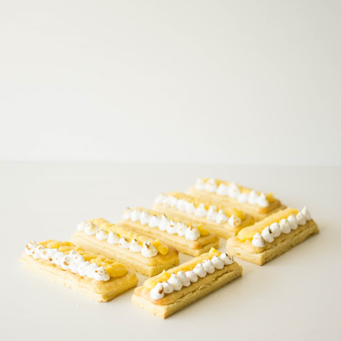Lemon Meringue Sable Breton Fingers