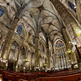 Church of Santa Maria del Mar, Barcelona by Kah Wai Lin - Buildings & Architecture Places of Worship ( digital blending, church, santa, dynamic range increase, maria, barcelona, spain )