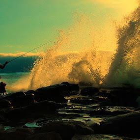 Fishing series by Kaushik Bera - Landscapes Sunsets & Sunrises ( #GARYFONGDRAMATICLIGHT, #WTFBOBDAVIS,  )