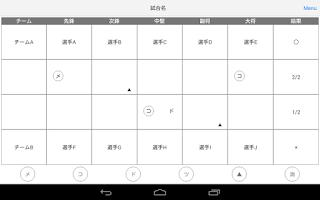 Screenshot of CIRPORT/サポート 剣道 スコアブック