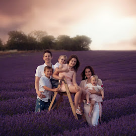Beautiful Family in the Lavender by Claire Conybeare - Chinchilla Photography - People Family