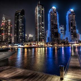 Dubai Marina by Jaideep Abraham - City,  Street & Park  Skylines ( dubai marina )