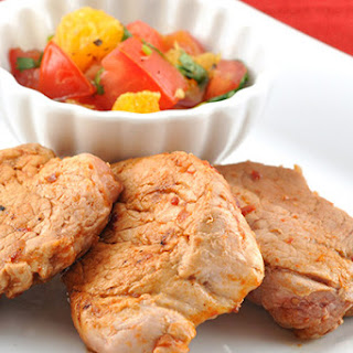 Spicy Pork Medallions with Tomato-Orange Salsa