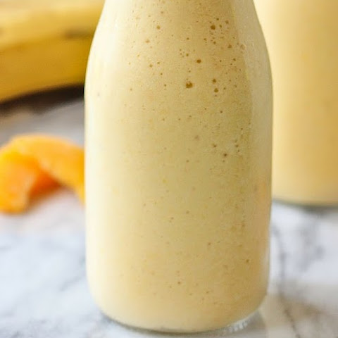 Peach, Banana, Honey and Cottage Cheese Smoothie