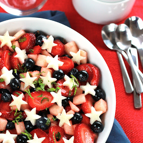Strawberry, Blueberry, Jicama Salad