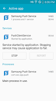 screenshot of Samsung Push Service