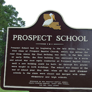 Prospect School had its beginning in the late 1800s, having its first class at Prospect Baptist Church, which was across the road from where the first building was built. In the late 1920s or early ...