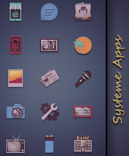 Eighties retro fun icon pack Screenshot 1