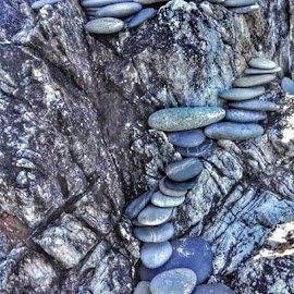 Pebble steps by Emma Kelly - Nature Up Close Rock & Stone